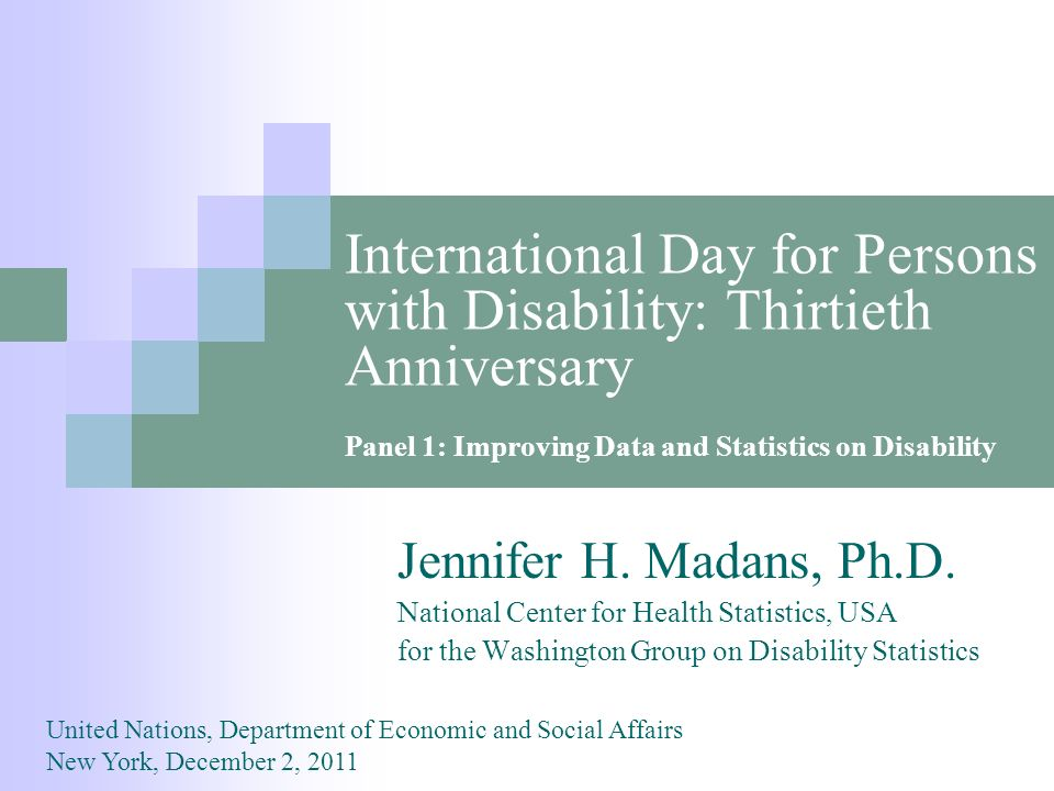 International Day for Persons with Disability: Thirtieth Anniversary Jennifer H.