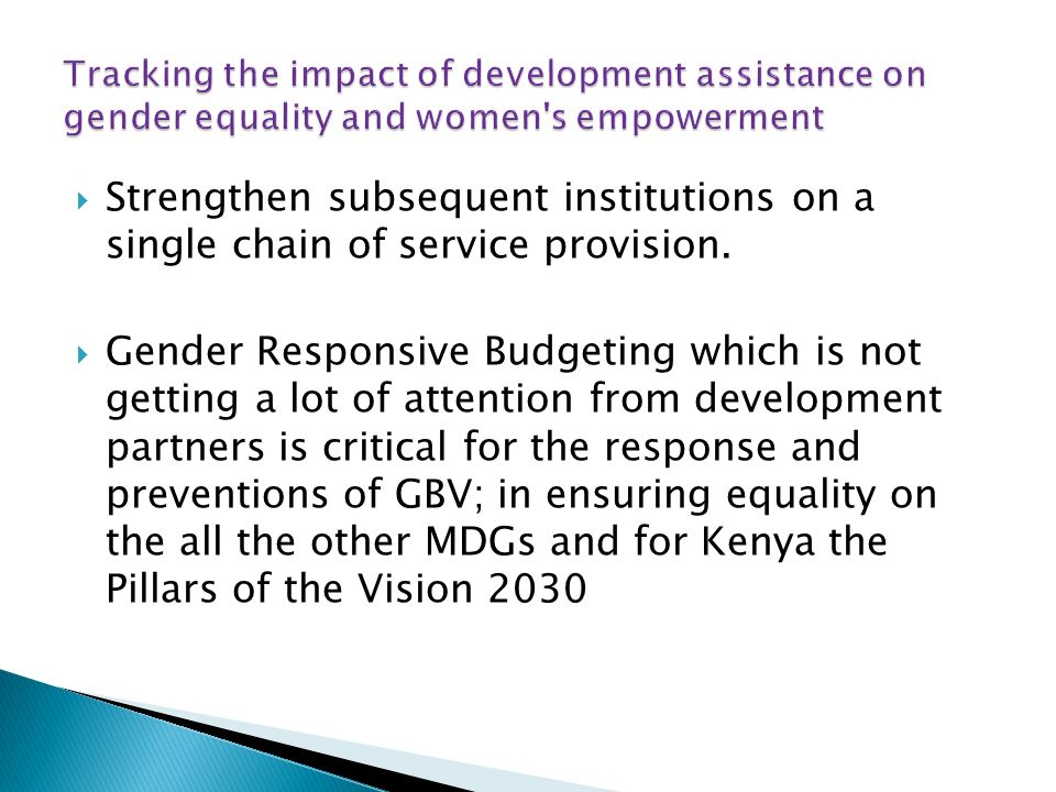 Strengthen subsequent institutions on a single chain of service provision.