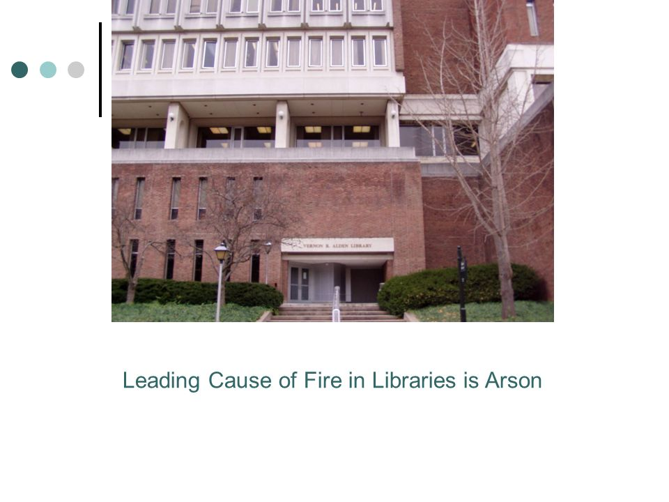 Leading Cause of Fire in Libraries is Arson