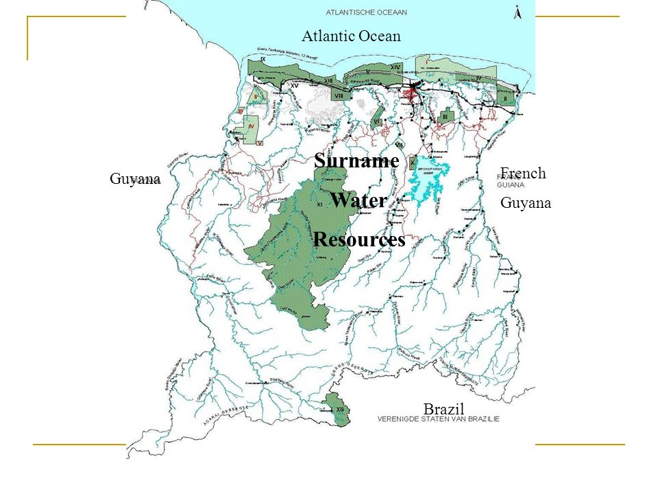 Atlantic Ocean Guyana French Guyana Brazil Surname Water Resources