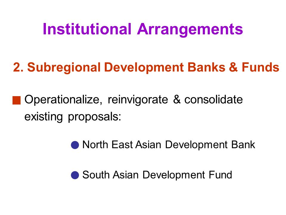 13 Institutional Arrangements 2.