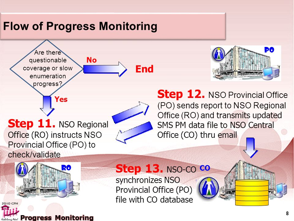 8 Flow of Progress Monitoring Step 11.