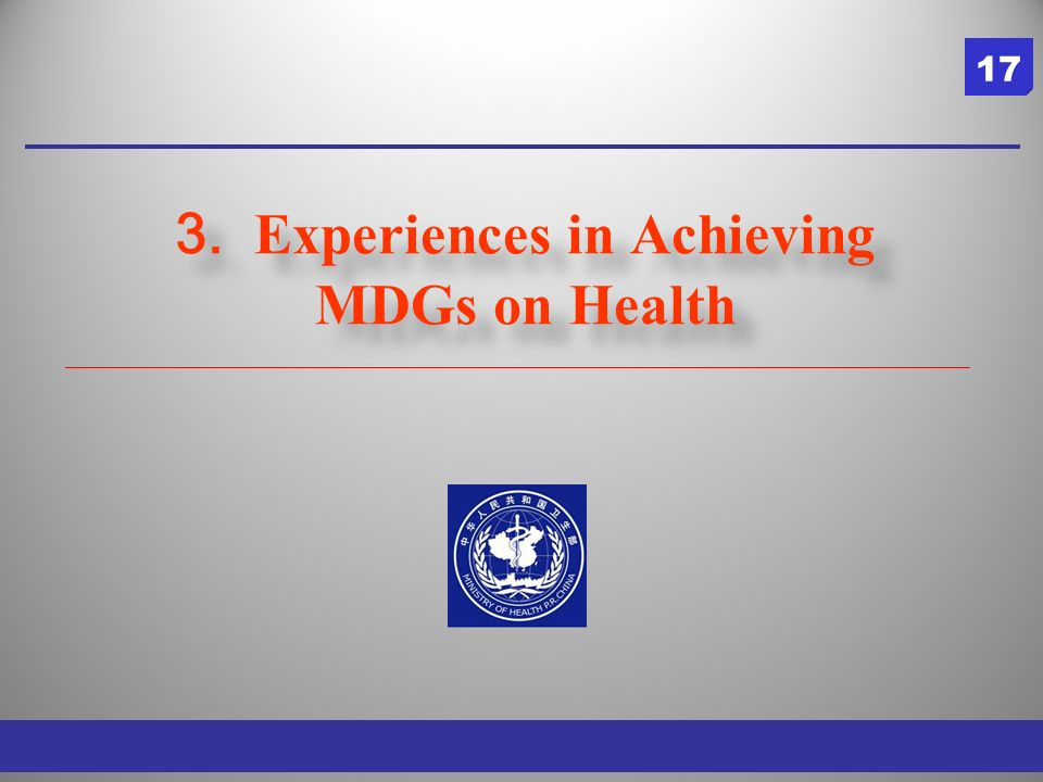 3. Experiences in Achieving MDGs on Health 17