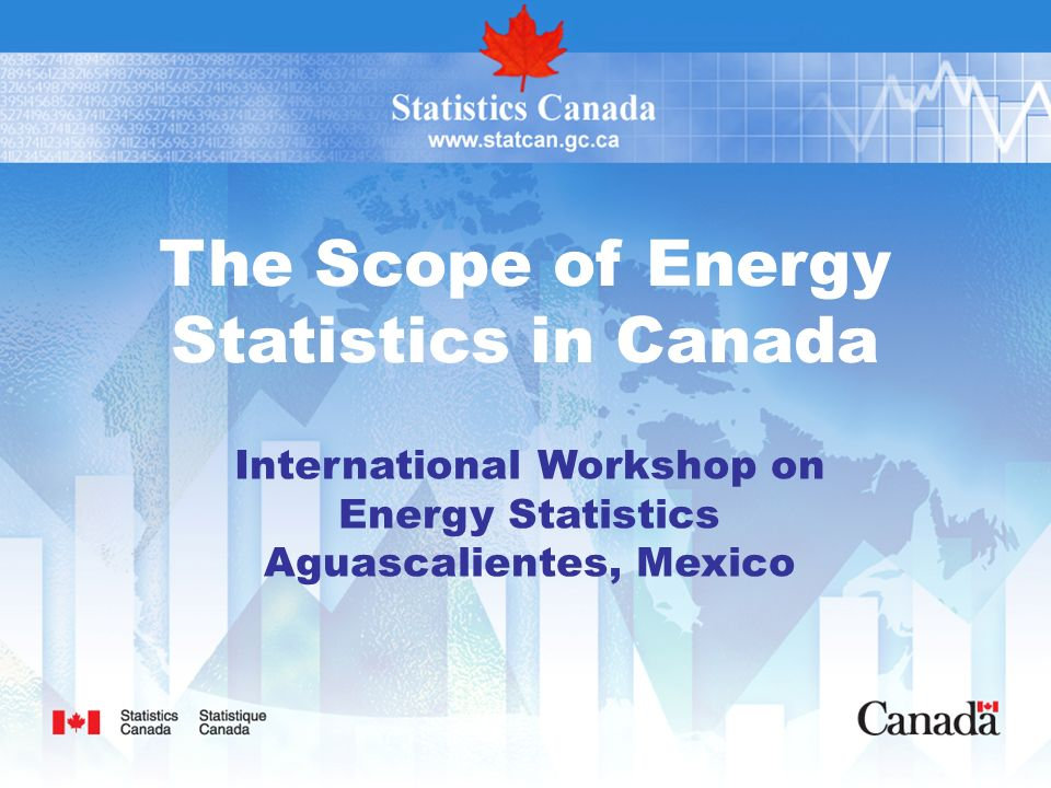 The Scope of Energy Statistics in Canada International Workshop on Energy Statistics Aguascalientes, Mexico