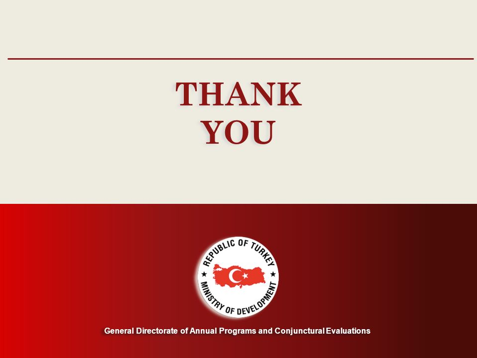 General Directorate of Annual Programs and Conjunctural Evaluations THANK YOU THANK YOU General Directorate of Annual Programs and Conjunctural Evaluations