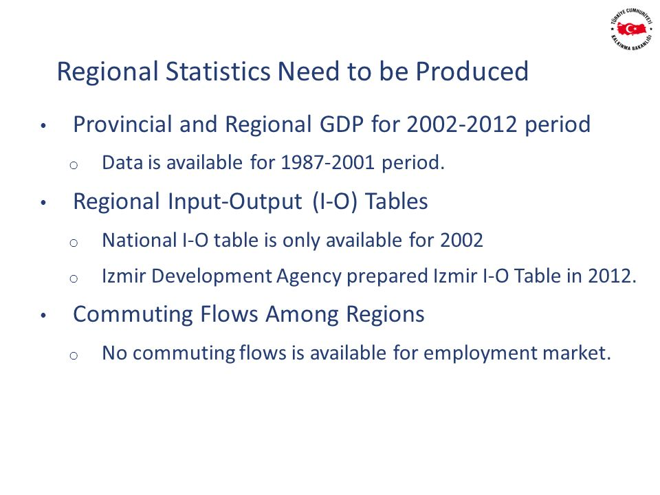 Provincial and Regional GDP for 2002-2012 period o Data is available for 1987-2001 period.