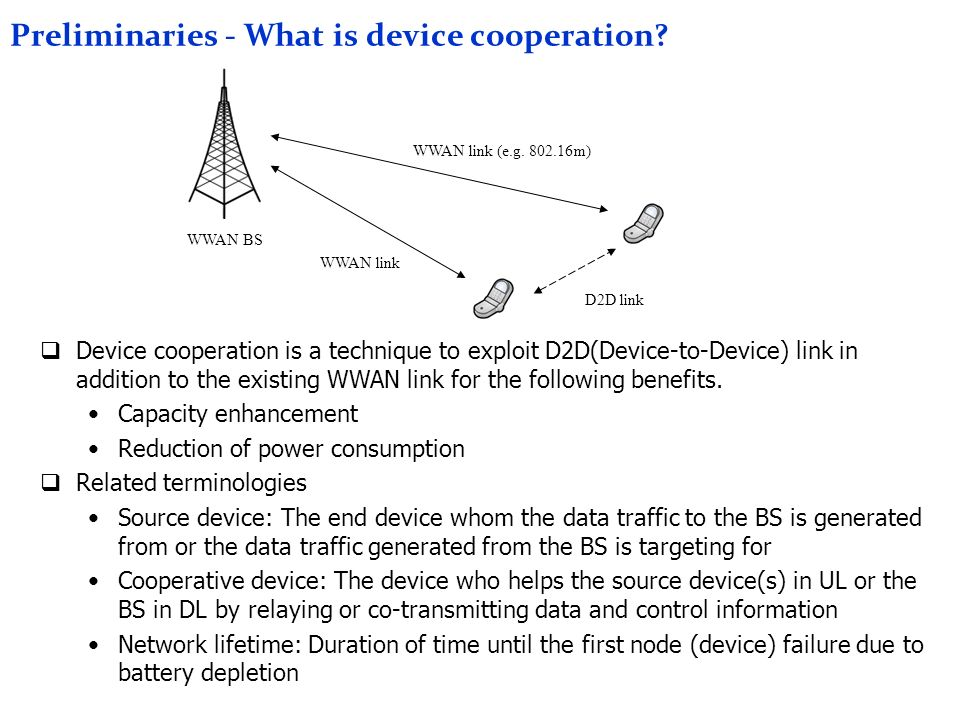 Preliminaries - What is device cooperation.