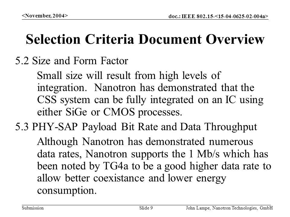 Doc IEEE Submission John Lampe Nanotron Technologies GmbHSlide 1