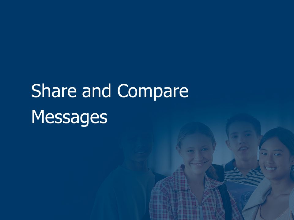 Share and Compare Messages