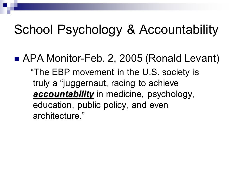 School Psychology & Accountability APA Monitor-Feb.