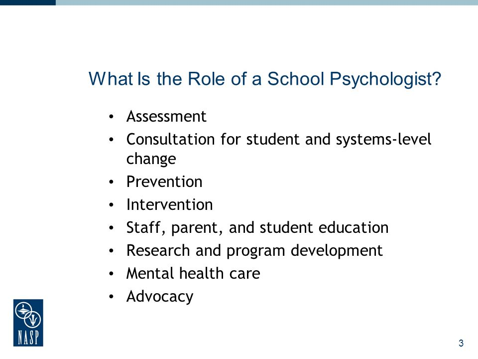 3 What Is the Role of a School Psychologist.