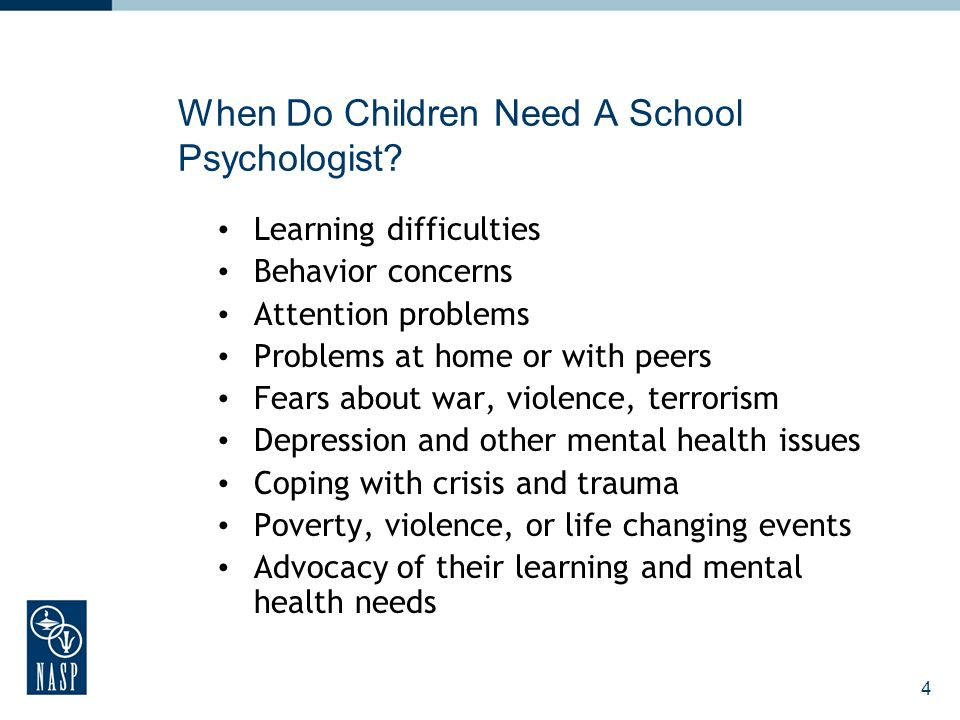 4 When Do Children Need A School Psychologist.