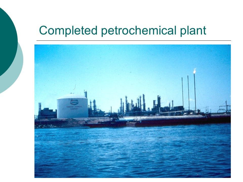 Completed petrochemical plant