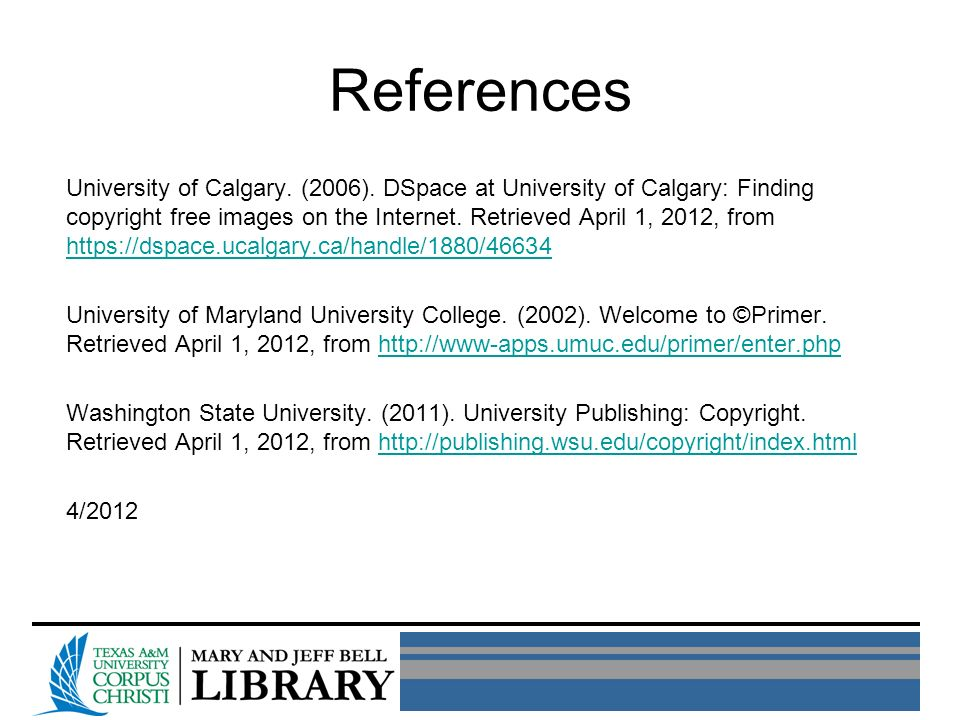 References University of Calgary. (2006).