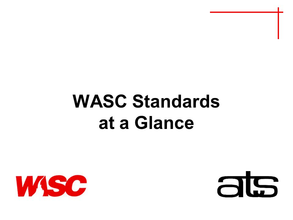 WASC Standards at a Glance