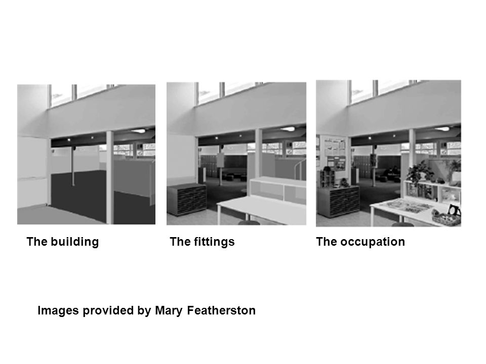 Images provided by Mary Featherston The building The fittings The occupation