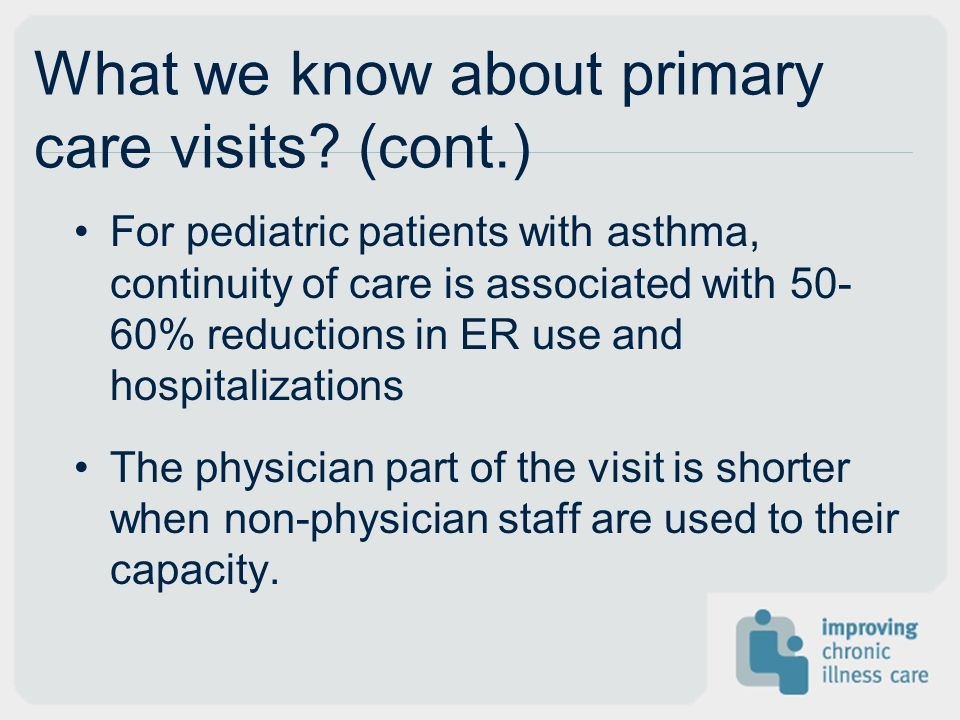 What we know about primary care visits.