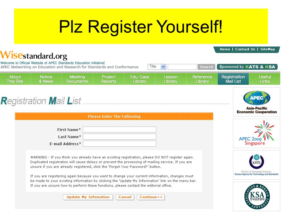 Plz Register Yourself!