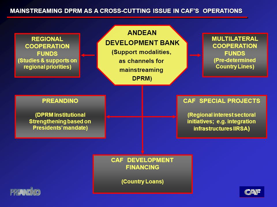 MULTILATERAL COOPERATION FUNDS (Pre-determined Country Lines) CAF SPECIAL PROJECTS (Regional interest sectoral initiatives; e.g.