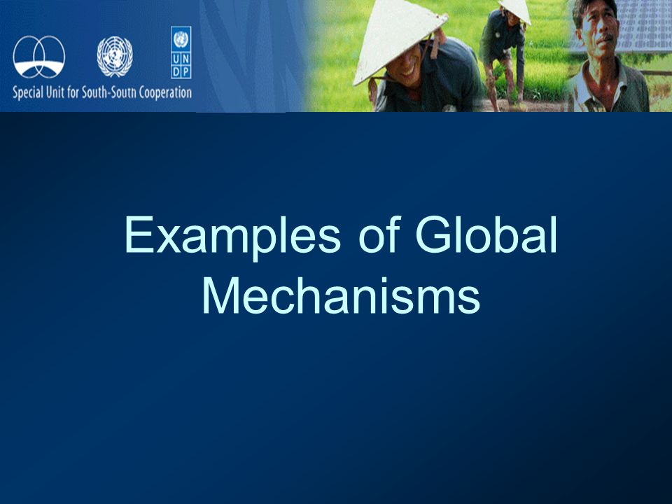 Examples of Global Mechanisms