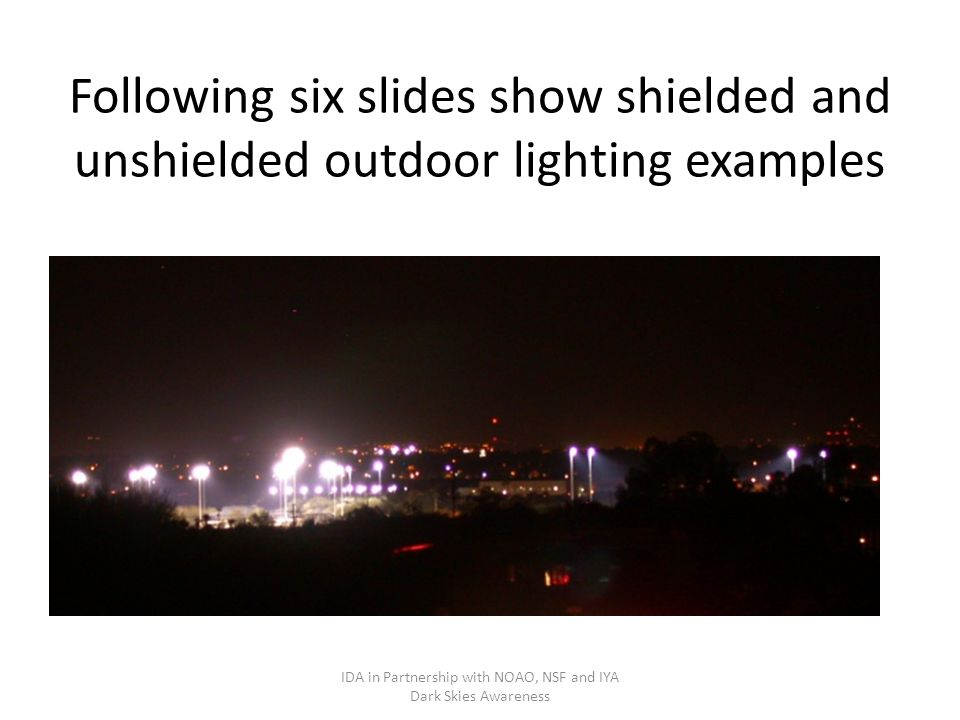 introduction to outdoor lighting and how it affects light pollution