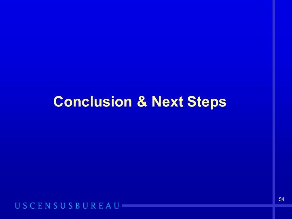 54 Conclusion & Next Steps