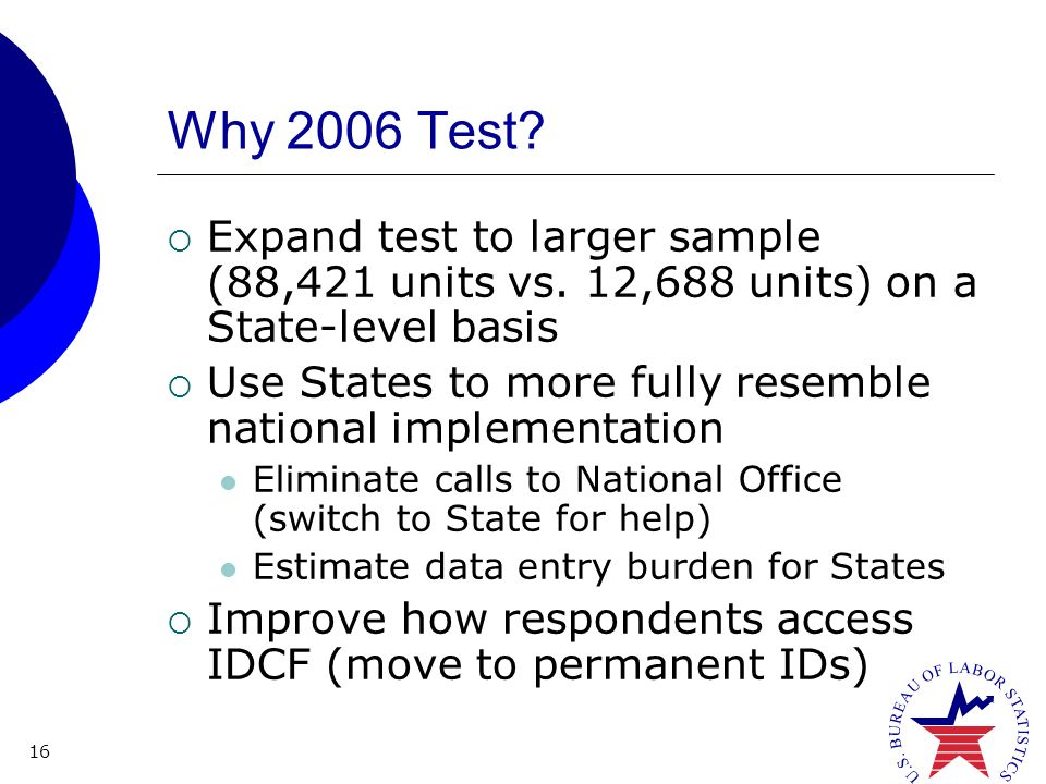 16 Why 2006 Test. Expand test to larger sample (88,421 units vs.