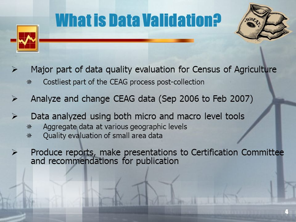4 What is Data Validation.