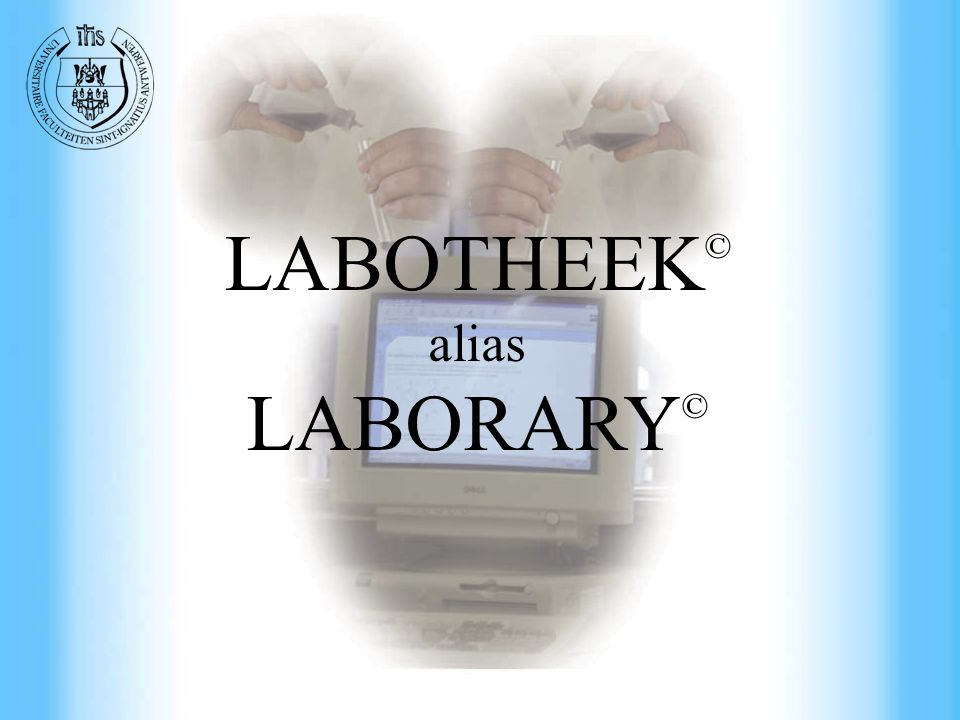 Commercial Engineering at UFSIA LABOTHEEK © alias LABORARY ©