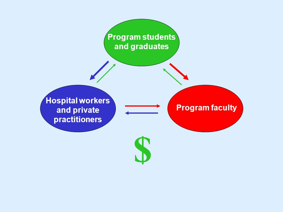 Program students and graduates Hospital workers and private practitioners Program faculty $