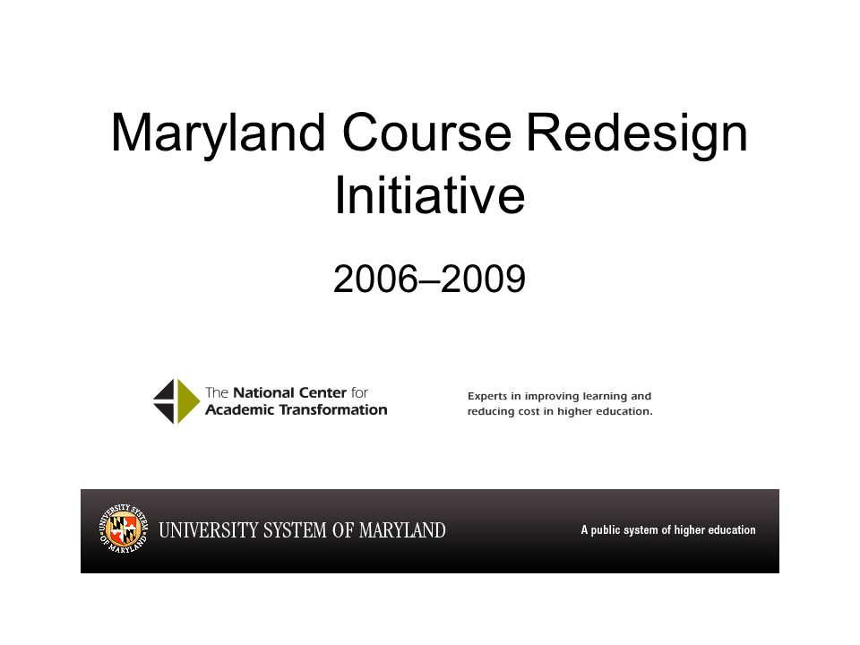 Redesign of biology 101 at salisbury university getting started on 5 maryland course redesign initiative 20062009 fandeluxe Choice Image