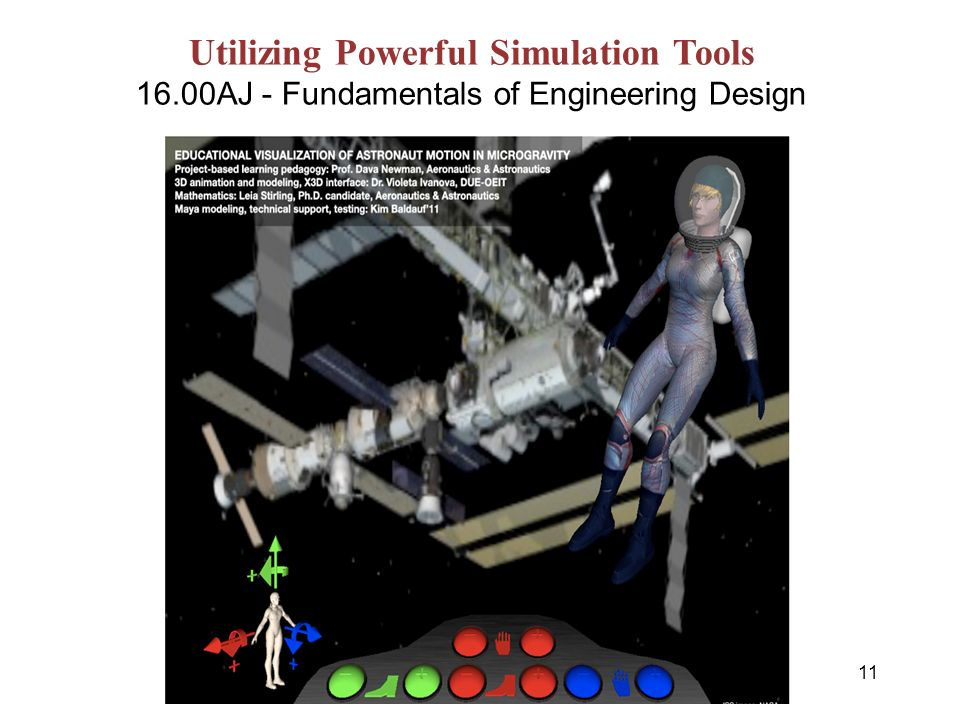 11 Office of the Dean for Undergraduate Education Utilizing Powerful Simulation Tools 16.00AJ - Fundamentals of Engineering Design