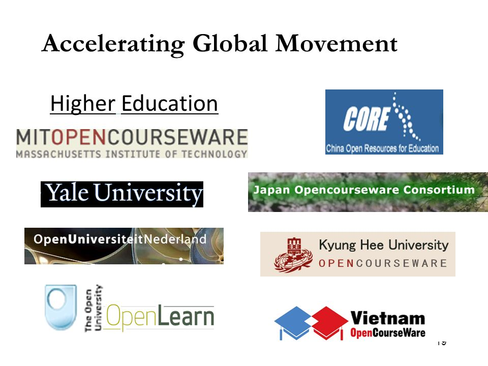 19 Accelerating Global Movement Higher Education