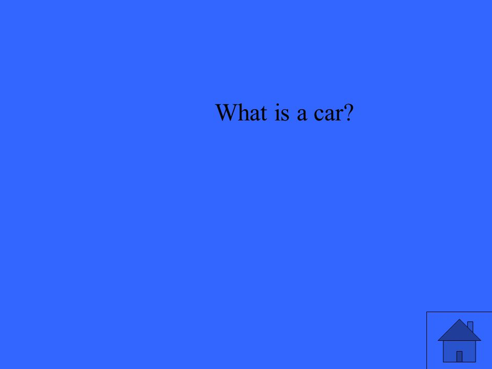 What is a car