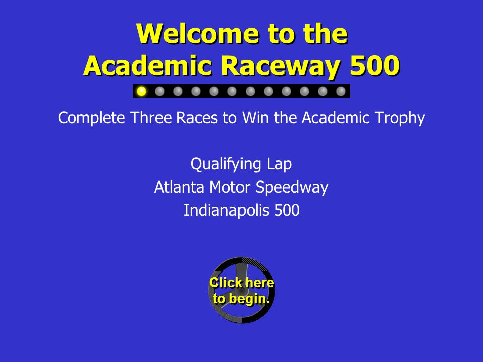 Academic Raceway 500 Community and State Government Grade 3