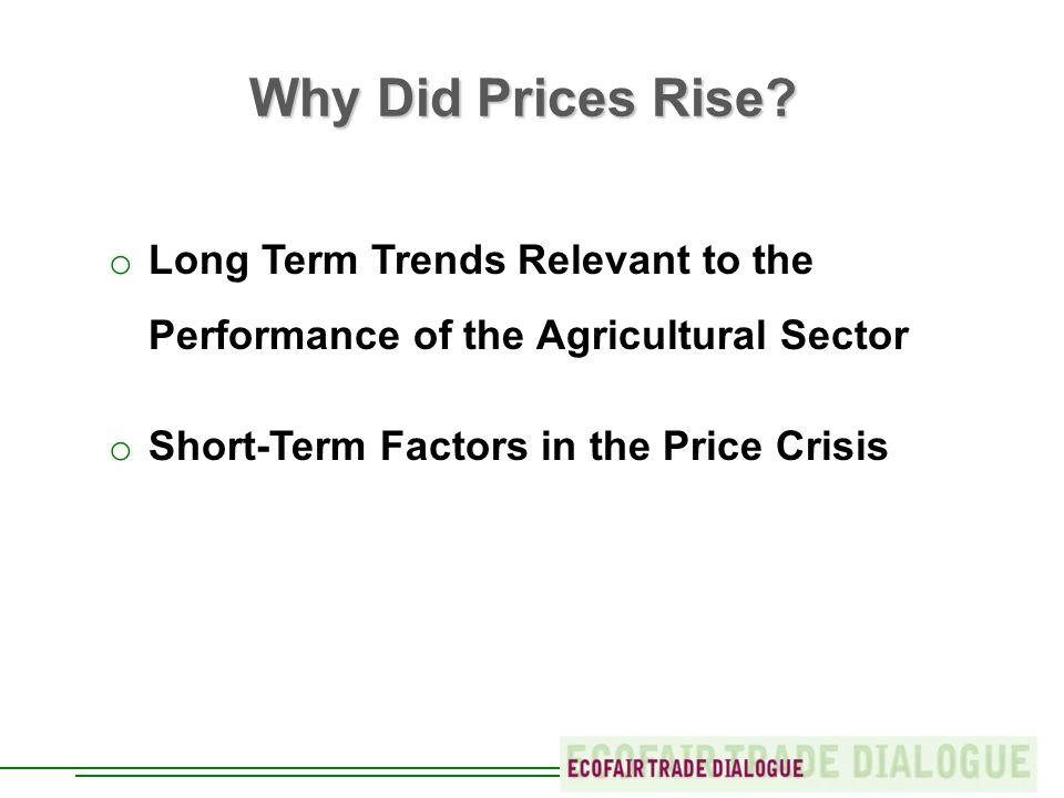 Why Did Prices Rise.