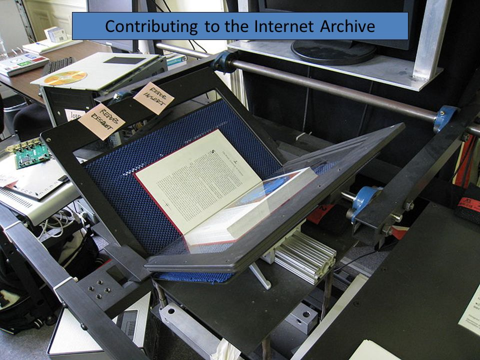 Contributing to the Internet Archive