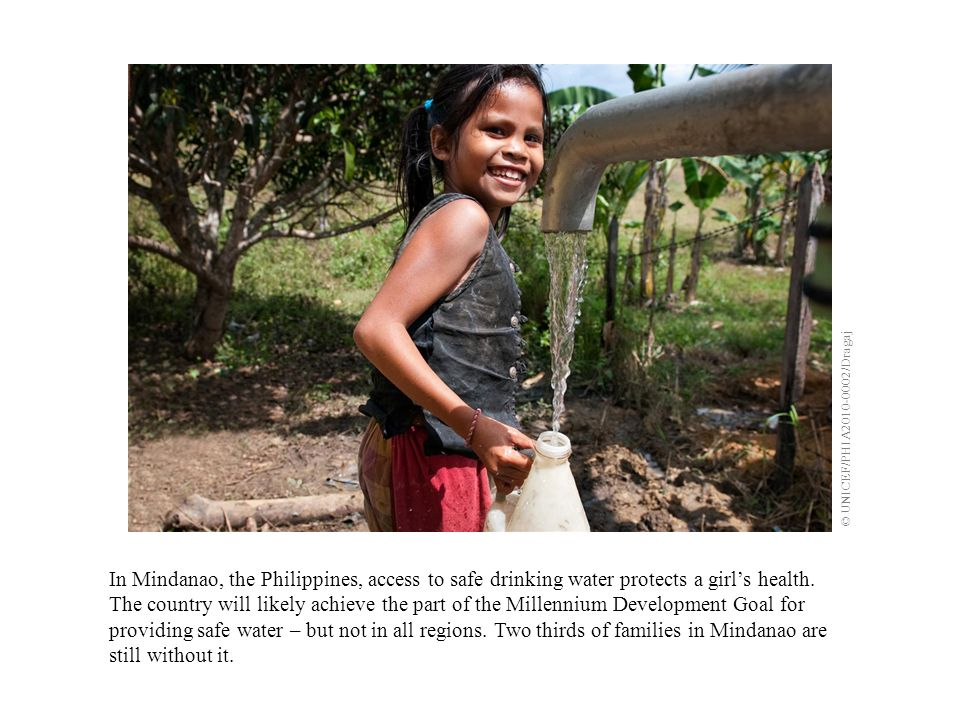 In Mindanao, the Philippines, access to safe drinking water protects a girls health.