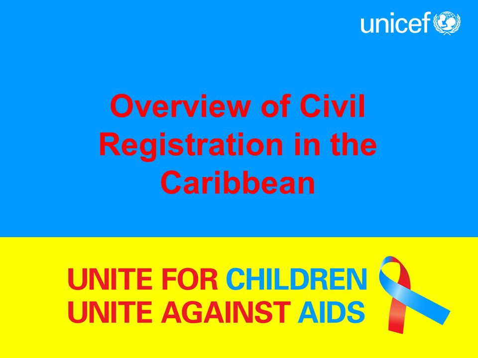 Overview of Civil Registration in the Caribbean