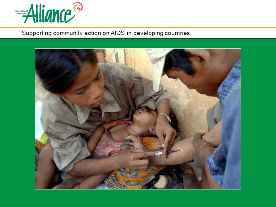 Supporting community action on AIDS in developing countries