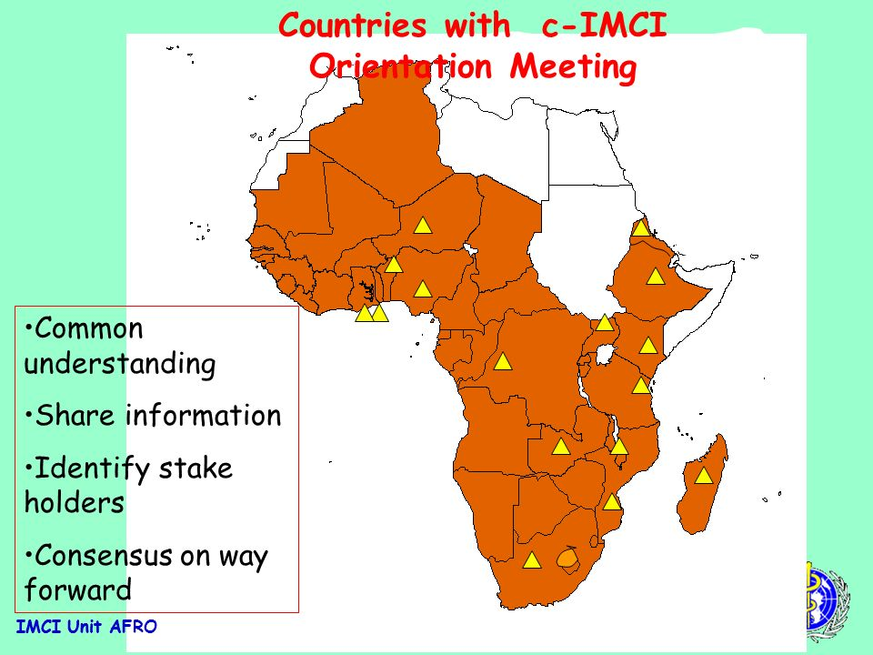 IMCI Unit AFRO Key Family Practices.. contd.