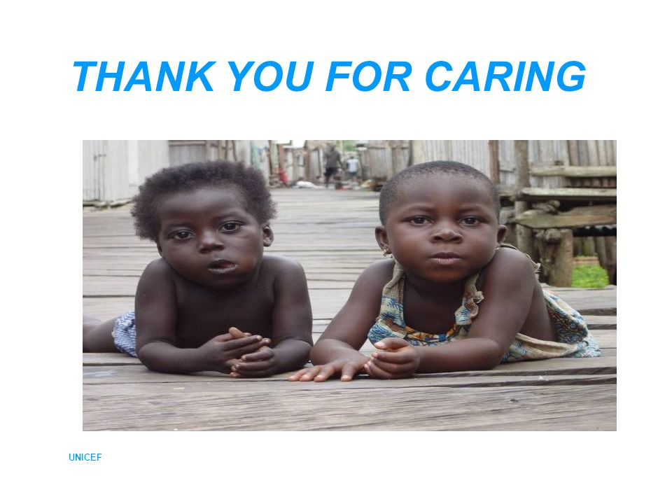 UNICEF THANK YOU FOR CARING