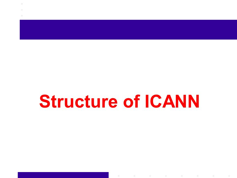 Structure of ICANN
