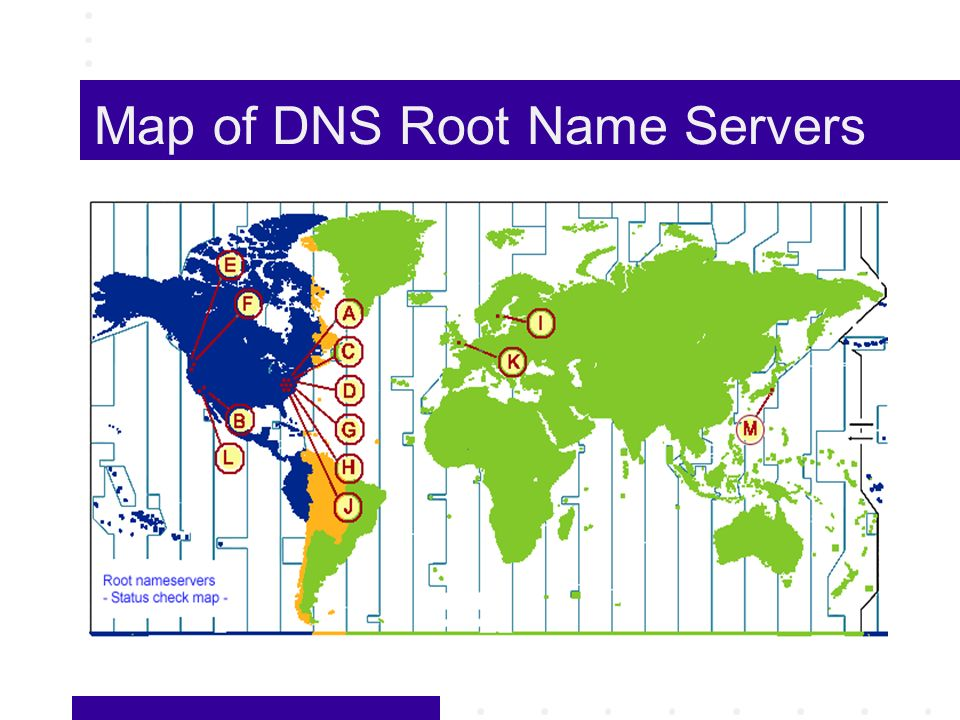 Map of DNS Root Name Servers