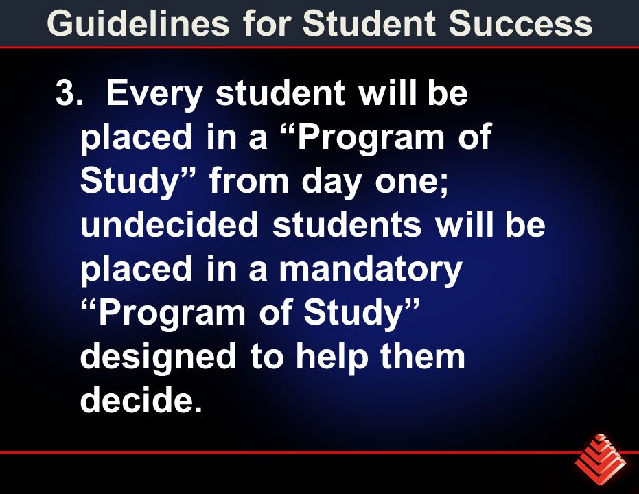 Guidelines for Student Success 3.