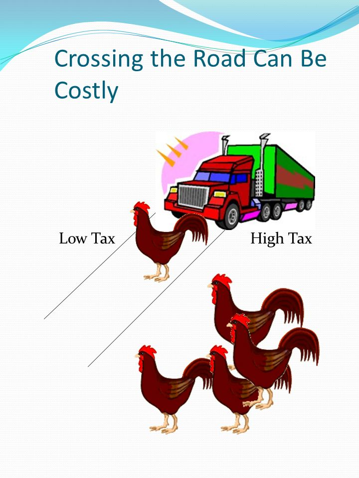 Crossing the Road Can Be Costly Low TaxHigh Tax