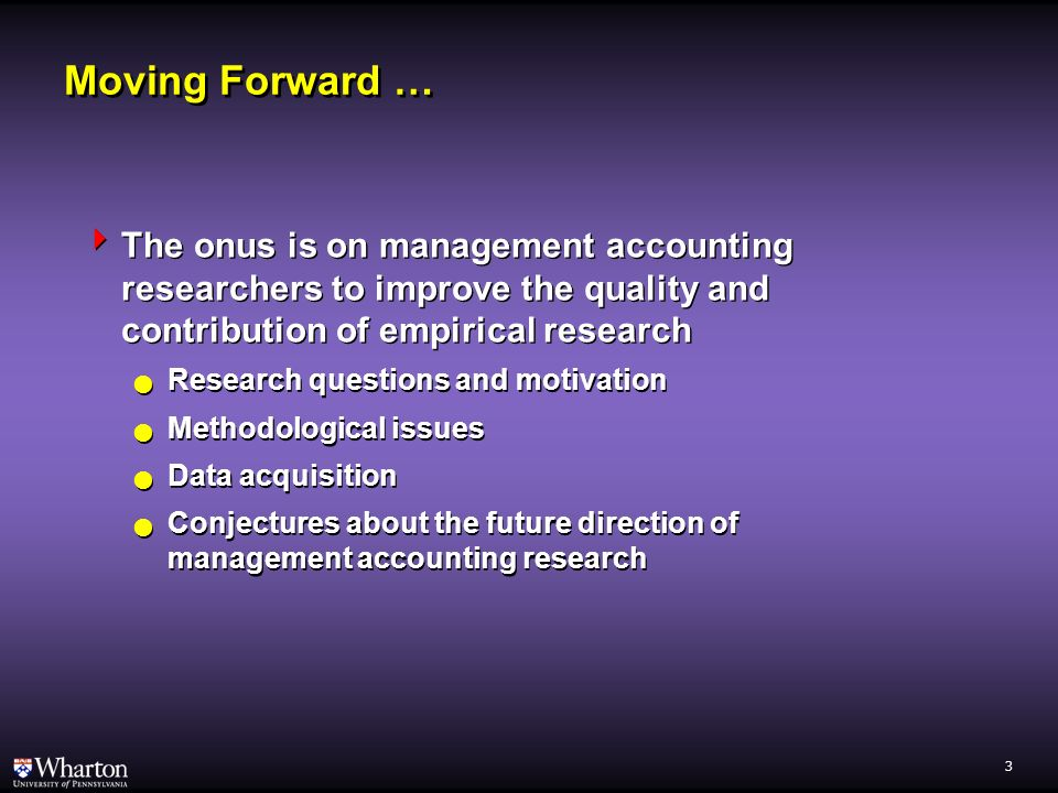 2 Is Empirical Research in Management Accounting Declining.