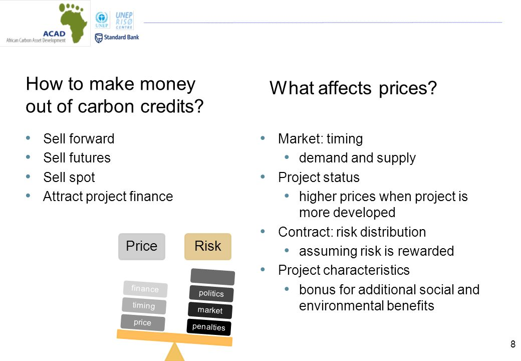 8 How to make money out of carbon credits.