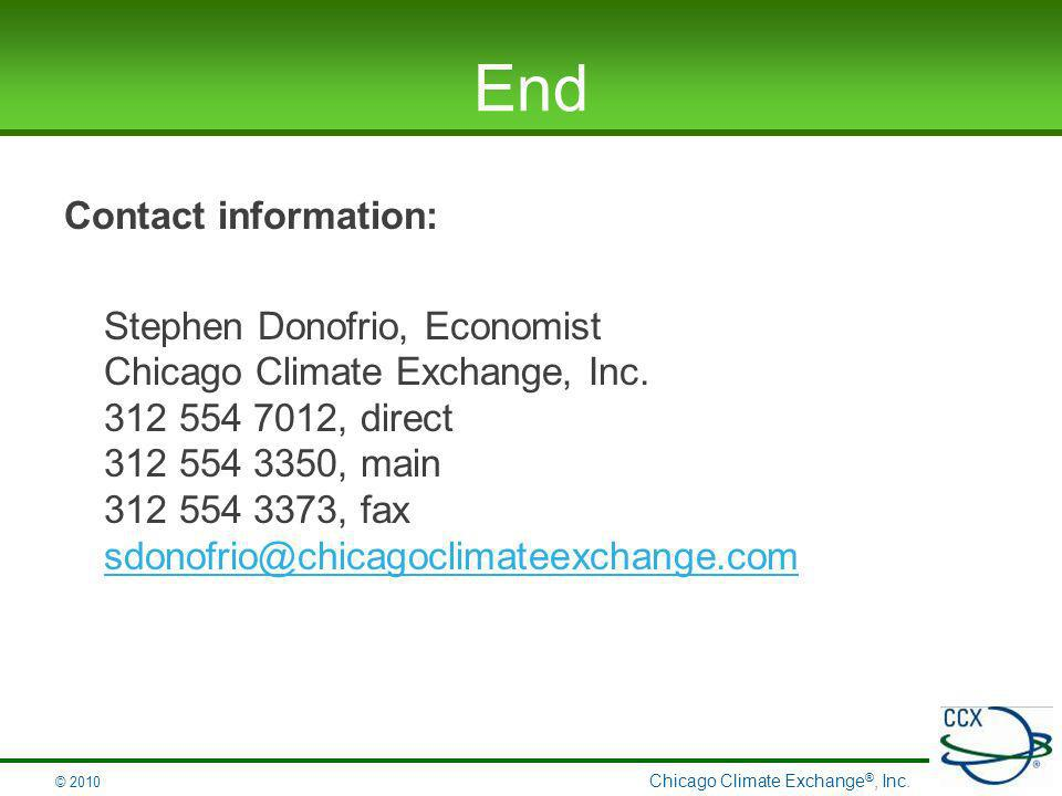 Chicago Climate Exchange ®, Inc.