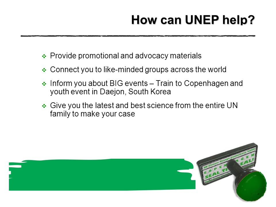 How can UNEP help.
